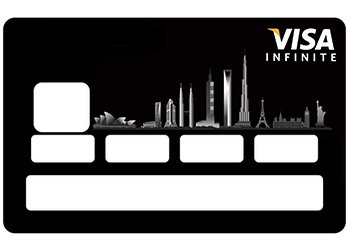 Carte Bleue Noire Infinity.Stickers Cb Carte Bleue Infinite Pour Carte Bancaire