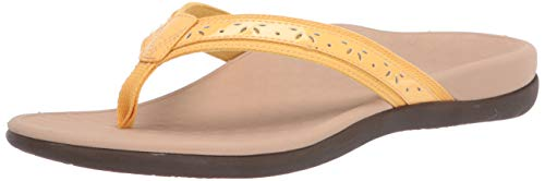 Vionic Women's Casandra Toe-Post Sandal - Ladies Everyday Sandals with Concealed Orthotic Arch Support