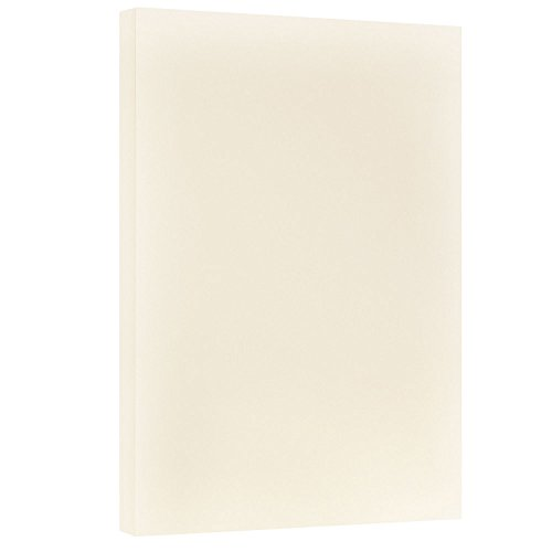 JAM PAPER Vellum Bristol 67lb Cardstock - 11 x 17 Letter Coverstock - Creme - 50 Sheets/Pack