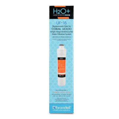 Brondell H2O+ Coral Single-Stage Carbon Block Replacement Water Filter (UF-15)