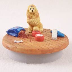 Conversation Concepts Miniature Poodle Apricot Candle Topper Tiny One ''A Day at Home'' by Conversation Concepts
