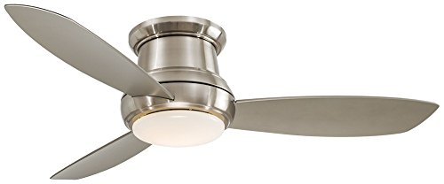 Sea Gull Lighting Windgate 9 In W 3 Light Brushed Nickel: Compare Price To Lighted Ceiling Fan Silver