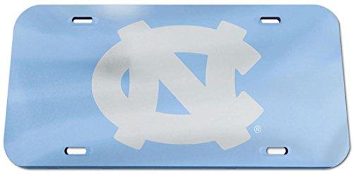 Tar Heels Logo License Plate (NCAA North Carolina Tar Heels Logo Crystal Mirror License Plate, 6 x 12-Inch)