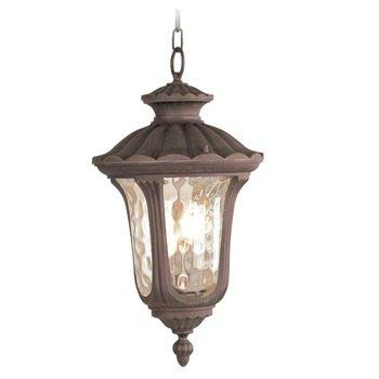 Livex Lighting 7658-58 Oxford 3 Light Outdoor Hanging Lantern, Imperial Bronze