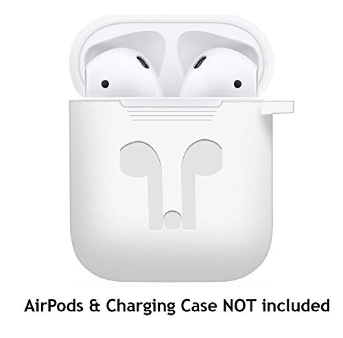 Jonerytimefor AirPods Silicone Case Cover Protective Skin for Apple Airpod Charging Case (White)