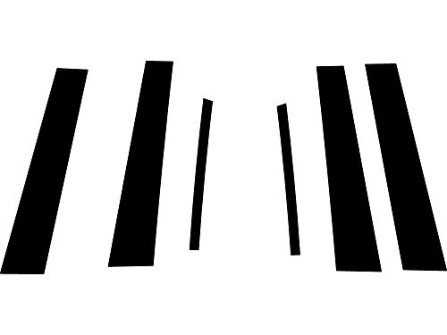 Rvinyl Rtrim Pillar Post Decal Trim for Acura TL 2009-2014 - Carbon Fiber 4D (Black) ()