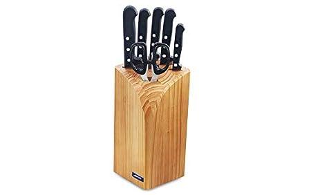 Arcos Universal - Taco de 4 cuchillos, macheta y tijera (6pzs)