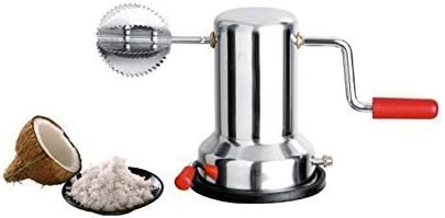 WhopperIndia Coconut Grater Scraper Shredder Hand Operated Rotating Kitchen Grater for Kitchen