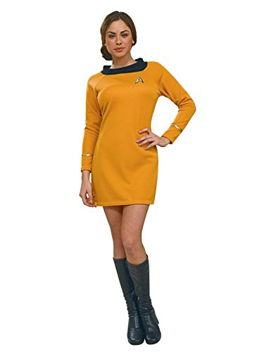 Rubie's Costume Secret Wishes  Star Trek Classic Deluxe Gold Dress, Adult -