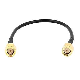 SMA-J Macho a RP-SMA-J Mujer RG174 Cable coaxial Flexible de