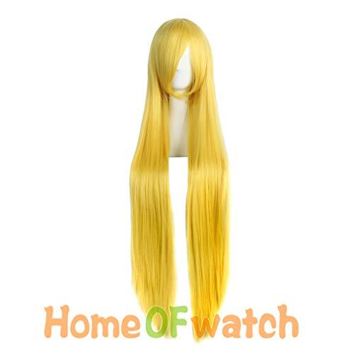 "loyasun 40"" Long Straight Hair Blonde Black Pink Red Purple Cosplay Wig Ms. from loyasun"