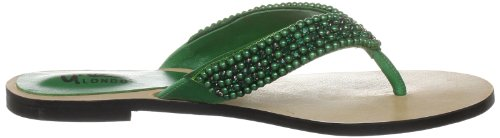Unze Evening Slippers L18331W - Sandalias para mujer Verde