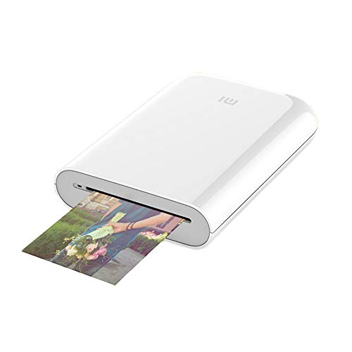 Xiaomi HD Wireless Bluetooth Portable Pocket Instant Printer Full Color Prints Compatible iOS & Android Devices(White)