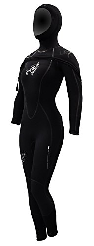 AquaLung SolAfx 8mm Women's Wetsuit, Black Discontinued (8L Size) by Aqualung