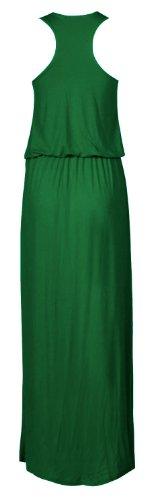New de burbujas de Michelle Toga Racer de flores saliendo de un muscular para mujer diseño de larga de costura para chalecos de pintura coja relieve motivos Maxi vestido de punta de bola Verde
