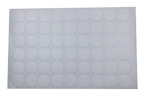 Mini Skater 1 Sheet/54Pcs 20mm Wooden Furniture Accessories Self Adhesive PVC Material Decoration Furniture Cabinet Screw Cap Covers Hole Stickers (Light White)