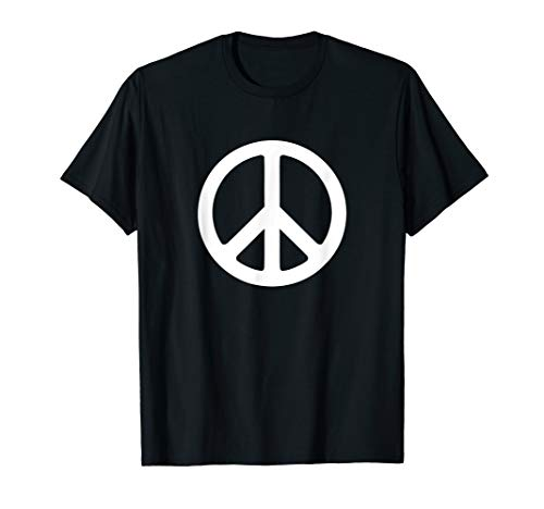 - White Peace Sign T-Shirt