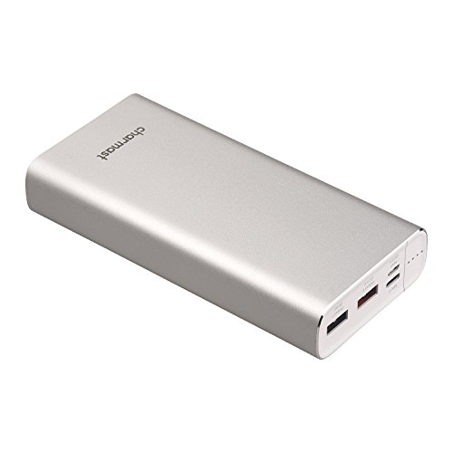 Quick Charge USB C Power Bank 20800mAh QC 3.0 Power Delivery PD Portable Charger Battery Pack Backup for MacBook Pro, iPhone 8/X, Nintendo Switch, Samsung S9, Pixel, Nexus- Silver