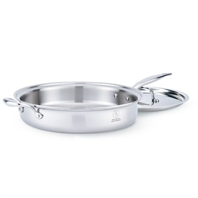American Clad 7-ply Stainless 5 Quart Saute with Lid