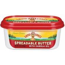 Land O Lakes Spreadable Butter, 8 Ounce -- 12 per case.