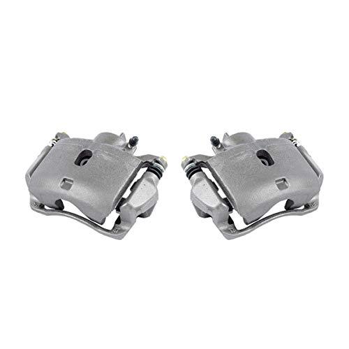 CKOE01449 [ 2 ] FRONT Premium Grade OE Semi-Loaded Caliper Assembly Pair Set (Honda Civic Brake Caliper)