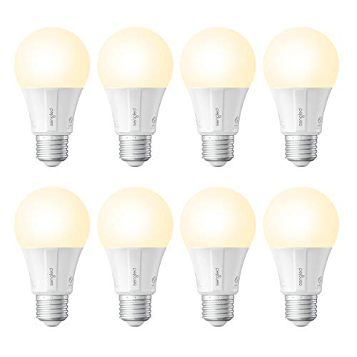 Sengled Smart LED Soft White A19 Bulb, Hub Required, 2700K 60W Equivalent, Works with Alexa, Google Assistant & SmartThings, 8 Pack