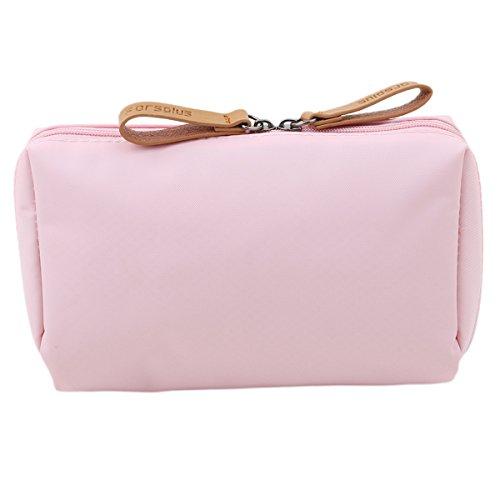 CH Makeup Bag Toiletry Bag for Women Skincare Cosmetic Pouch Double Zipper Travel Organizer - Bags Carolina Herrera