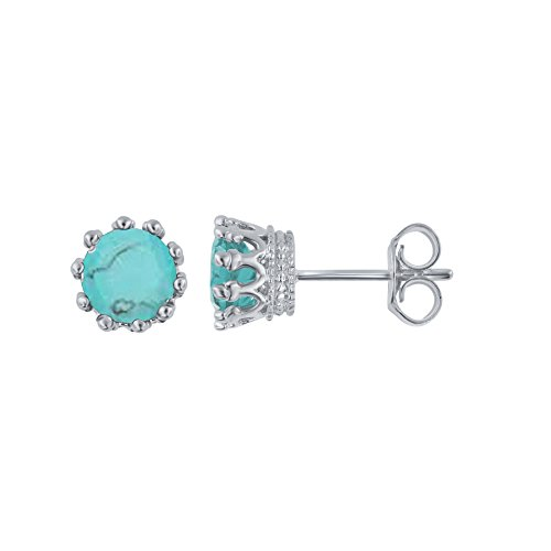 Turquoise Sterling Silver Stud (Sterling Silver Turquiose Stud Earring)