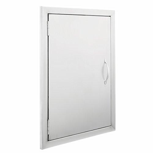 Popsport BBQ Door 17Wx24H Inch Single Access Door 304 Stainless Steel Commercial Outdoor Kitchen Grills Drawer Cooking for BBQ (17X24 (Kitchen Doors Drawers)