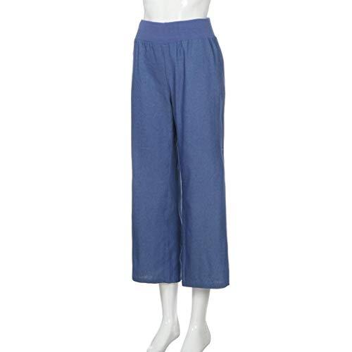 Pantaloni Blu Signore Donne Lungo Gamba Strisce Jeans Largo Sumtter wqE7n