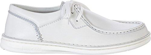 cordones para blanco de Weiß de Zapatos mujer Piel Birkenstock vWnEXqFPF