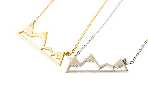 Simple Dainty Geometric Small Move Womens Jewelry Climb Every Hiker Lady Oregon Virginia Colorado Silhouette Peak Snowy Rocky Himalayas Mountain Outline Peak Moon Mama Bar Pendant Charm Necklace-hc ()
