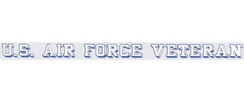 U.S. Air Force Veteran - Window Strip Decal (Strip Window Decal Sticker)