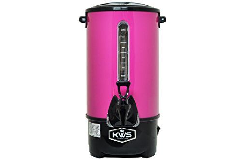 KWS WB-30 19.5L/83Cups Commercial Heat Insulated Water Boiler and Warmer Stainless Steel (Pink) by KitchenWare Station