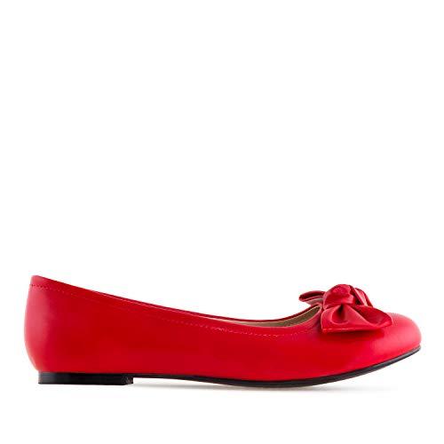 am5305 Rojo Grandes Bailarina Soft Machado Lazo De Mujer 42 Andres Tallas 45 En La O5ACqnzEw
