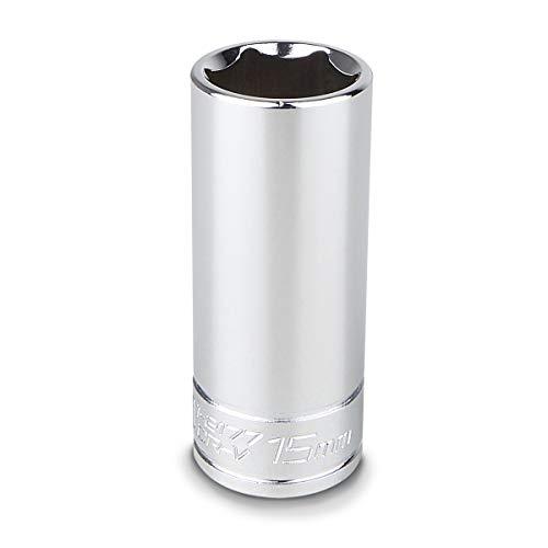 Capri Tools 15 mm Deep Socket, 1/4-Inch Drive, 6-Point, Metric