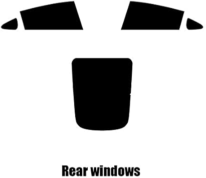 Pre cut window tint Tesla Model 3-2017 and newer 20/% Dark Smoke Rear windows