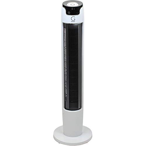 Genesis 43 Inch Oscillating Digital Tower Fan with Remote and Max Cool Technology, White by Genesis