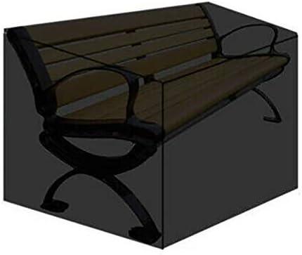 resistente tessuto Oxford antistrappo Copertura per panca da giardino a 2 posti con coulisse 134 x 66 x 89 cm antivento impermeabile anti-UV Verdelife