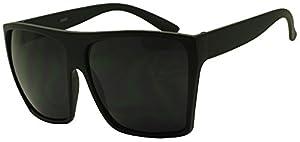 SunglassUP Extra Large Square Retro Flat Top Oversized Aviator Sunglasses