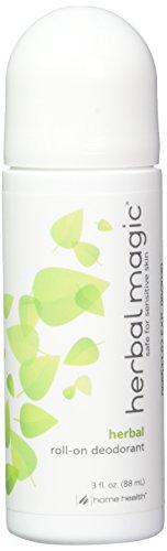 - Home Health Herbal Magic Herbal Deodorant (2 Pack) - 3 fl oz - Long Lasting Protection Roll-On Deodorant, Gentle & Safe for Sensitive Skin - Non-GMO, Paraben-Free, Vegan