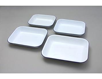 34cm x 28cm White Enamel Bakepan