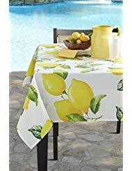 (Benson Mills Garden Party Indoor/Outdoor Spillproof Tablecloth (60