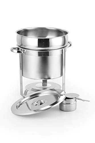 ChefMaid Stainless Steel Soup Warmer, 11-Quart Soup Chafer BONUS FREE CHEFS APRON
