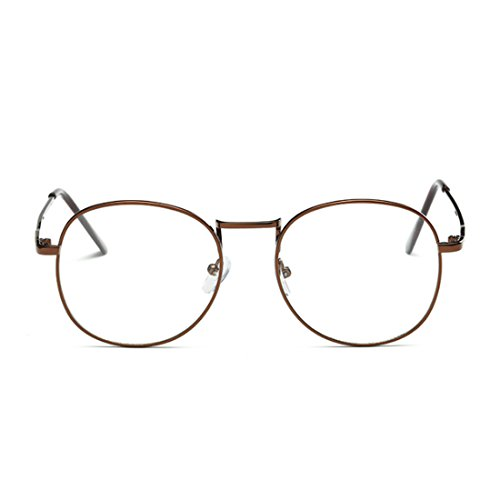 Hommes femmes résine lunettes lunettes Aiweijia rétro cadre rond plein lentilles de en myopie Bronze et dExqw1SxnU