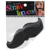 Black Mustache Straw ToppersNew by: -