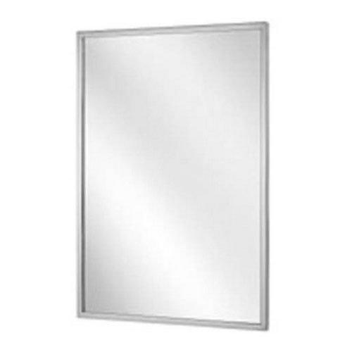 Bradley 781-024362 Roll-Formed Channel Frame Tempered Glass Mirror, 24'' Width x 36'' Height by Bradley
