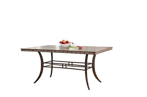 Hillsdale Emmons Rectangle Dining Table, Washed Gray (Hillsdale Dining Room Bed)