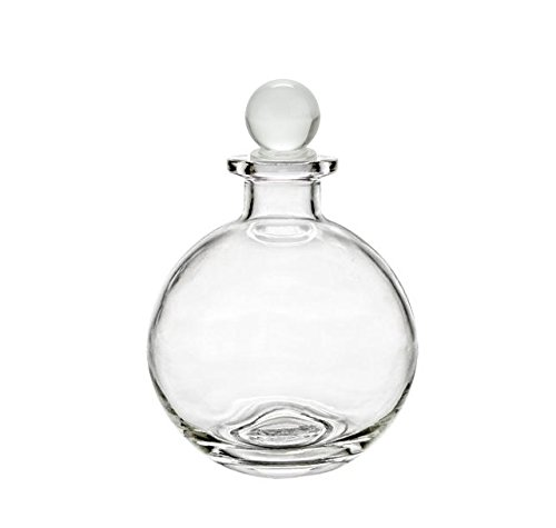 Nakpunar Spherical Clear Glass Bottle with Glass Bottle (Round Glass Bottle)