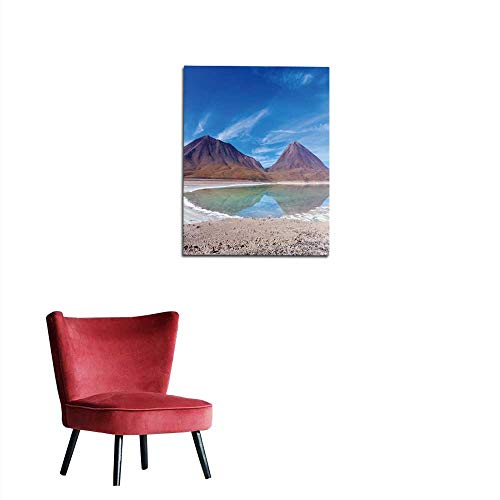 longbuyer Home Decor Wall The Natural Colors of The Green Lagoon in The Siloli Desert Near The Border of Chile and The Uyuni Salt Flat in Bolivia South America Mural 16